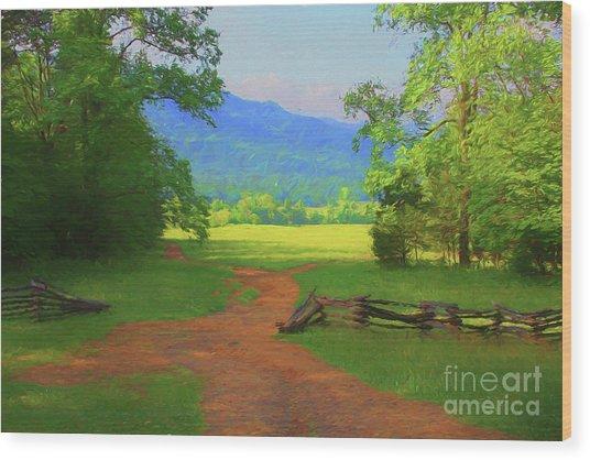 Morning View Wood Print