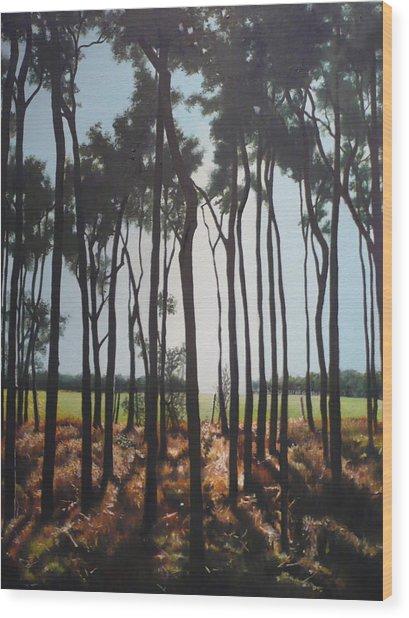Morning Walk. Wood Print