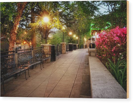 Morning Walk In Gatlinburg Tennessee Wood Print