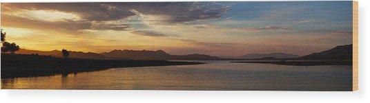 Morning's Colors Panorama Wood Print