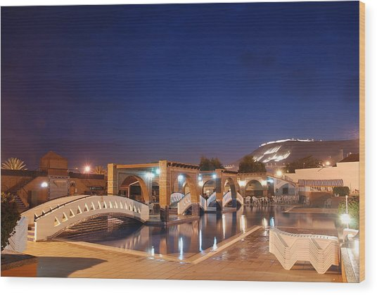 Moroccan Hotel Wood Print by Jaroslaw Grudzinski