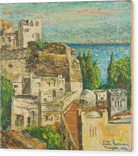 Morocco Palette Knife In Oil By Victor Herman Wood Print by Joni Herman