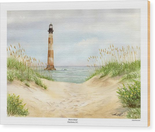 Morris Island Light House Wood Print by Lane Owen