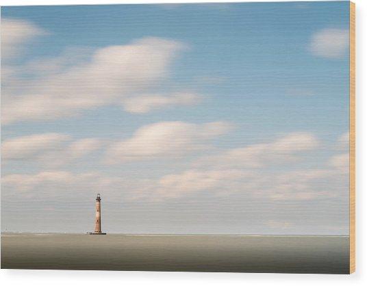 Morris Island Lighthouse Color Wood Print