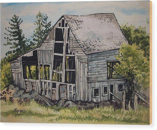 Morristown Barn Ny Wood Print