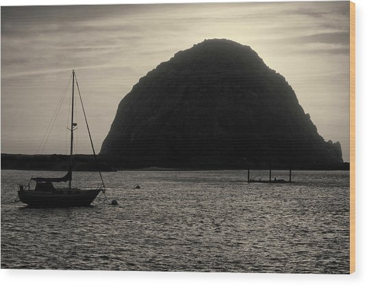 Morro Bay I Toned Wood Print