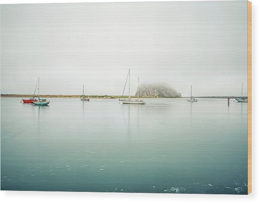 Morro Calm #2 Wood Print by Joseph S Giacalone