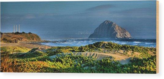 Morro Rock And Beach Wood Print