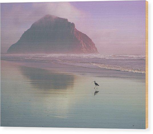 Morro Rock Wood Print