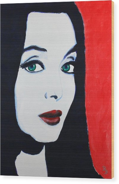 Morticia Addams Wood Print