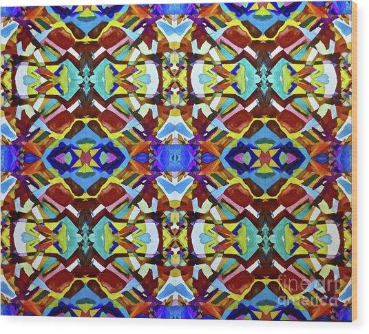Mosaic Wood Print
