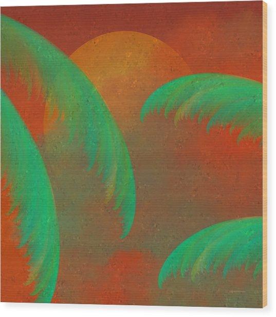 Mosaic Sunrise Wood Print
