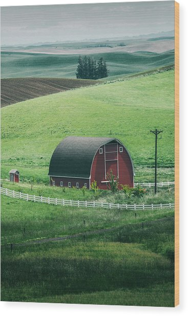 Moscow Barn Wood Print by Vincent James