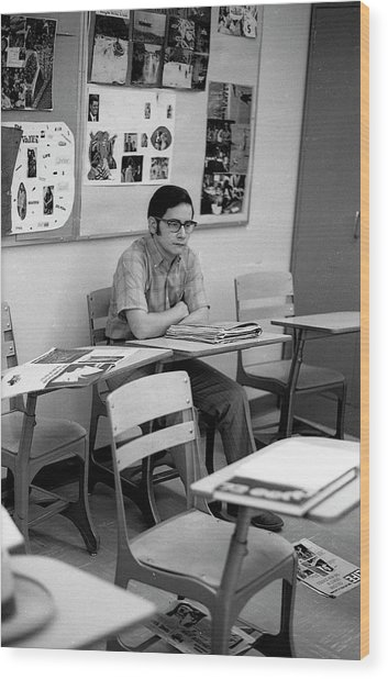 Most Scholarly Student, 1972 Wood Print