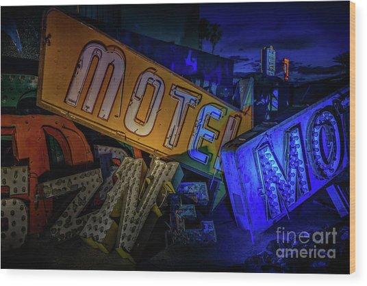 Motel Wood Print