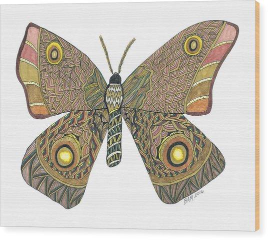 Moth Wood Print