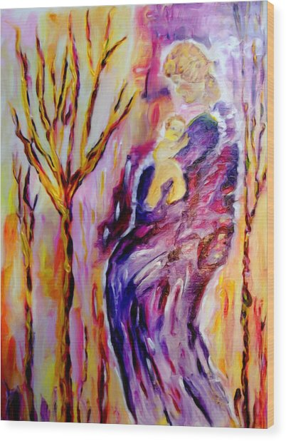 Mother And Child Wood Print by Shelley Bain
