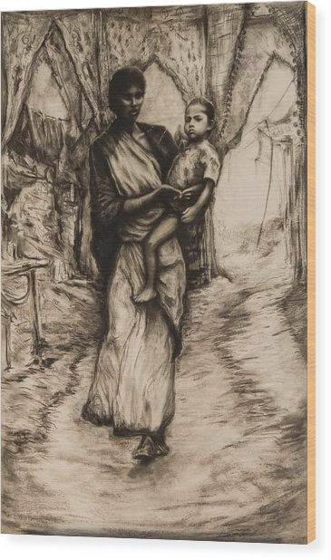 Mother And Child Wood Print by Tim Thorpe