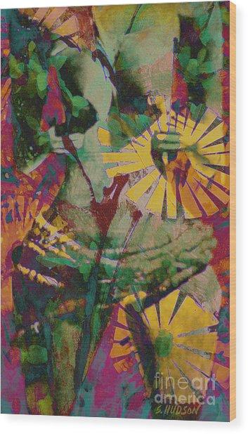 mother fertility goddess - Flower Goddess II Wood Print