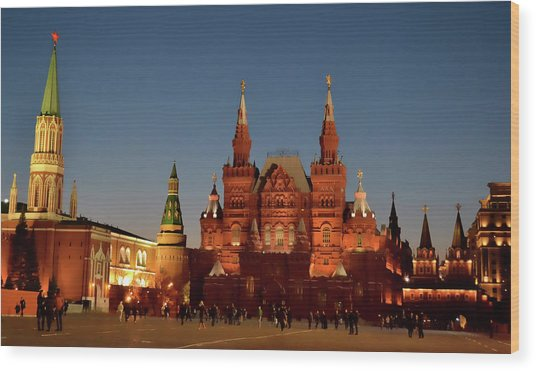 Mother Moscow Wood Print by JAMART Photography