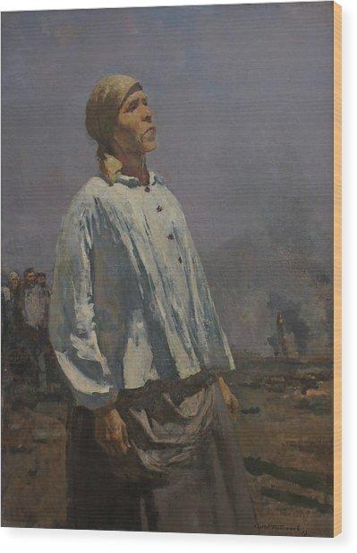 Mother Of Partisan Wood Print by Sergey Gerasimov