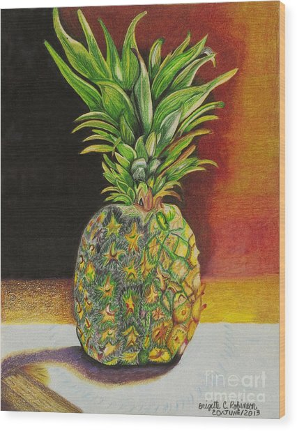 Succulent Wood Print