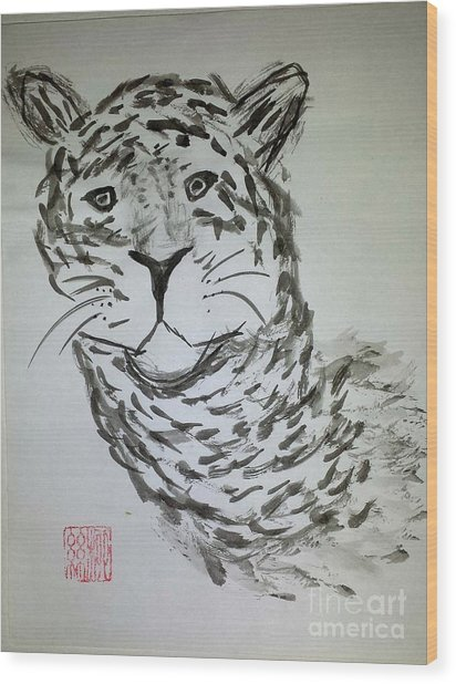 Mother Sister Jaguar Wood Print