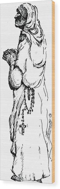 Mother Terasa Wood Print by Dan Earle