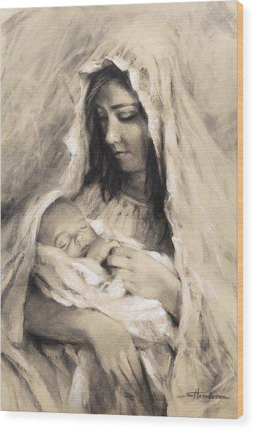 Motherhood Wood Print