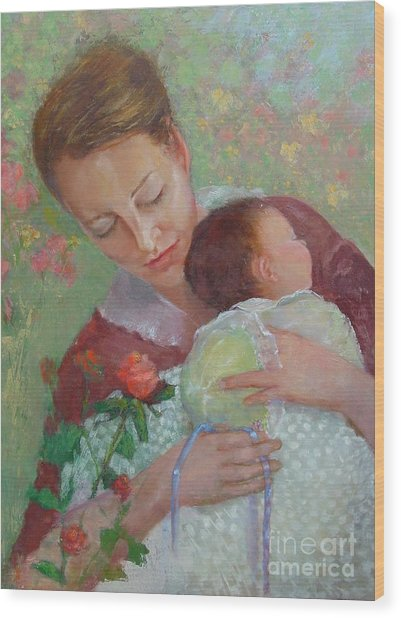 Mother's Day    Copyrighted Wood Print by Kathleen Hoekstra