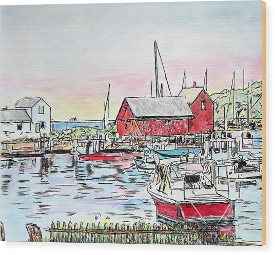Motif #1 Rockport, Massachusetts Wood Print