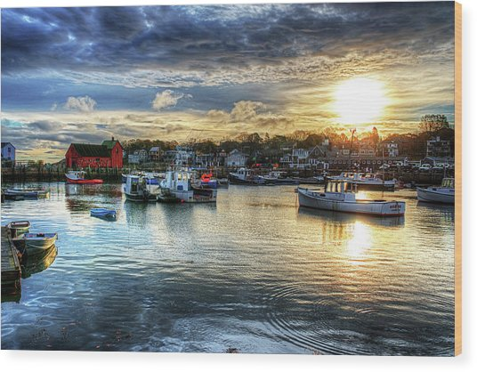 Motif #1 Sunrise Rockport Ma Wood Print