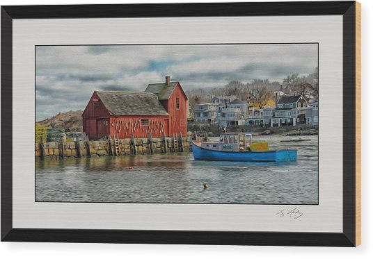 Motif #1 Watches Over The Amie V3 Wood Print by Liz Mackney