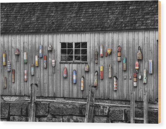 Motif No 1 - Fish Shack Wood Print