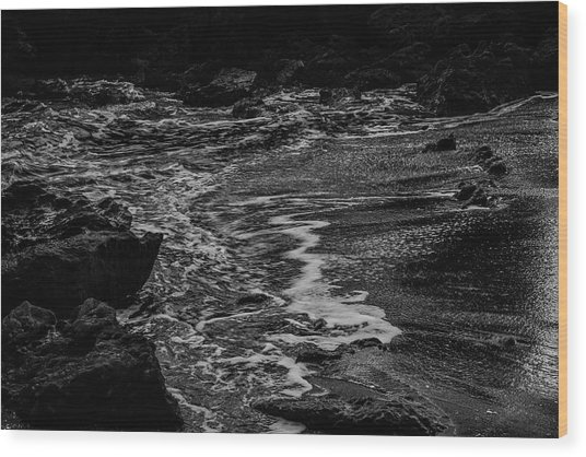 Motion In Black And White Wood Print