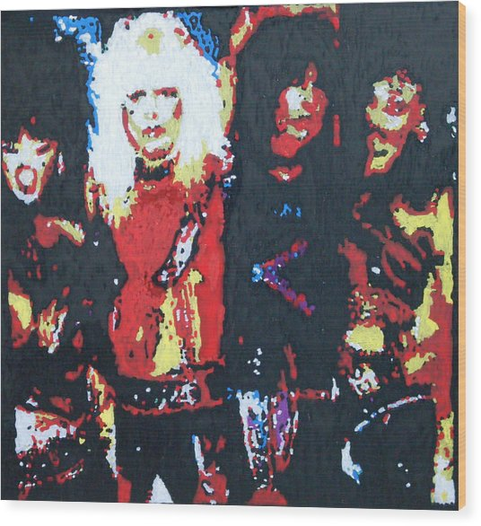 Motley Crue Without Sun Wood Print by Grant Van Driest