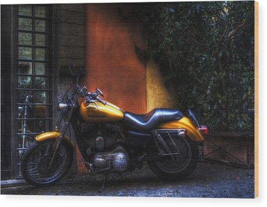 Moto 1 Wood Print by Brian Thomson