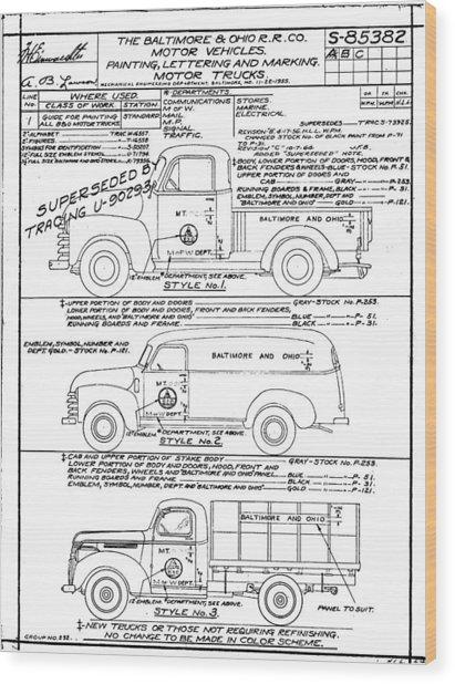 Motor Vehicles Wood Print