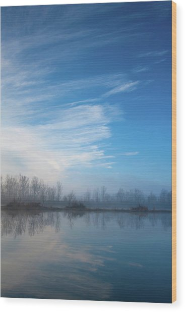 Wood Print featuring the photograph Mottled Sky by Davor Zerjav