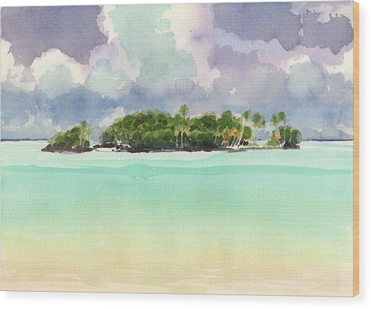 Motu Rapota, Aitutaki, Cook Islands, South Pacific Wood Print