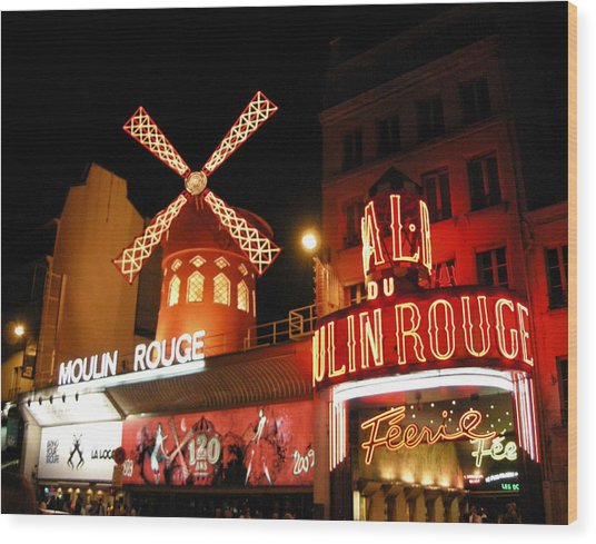 Moulin Rouge Paris Wood Print