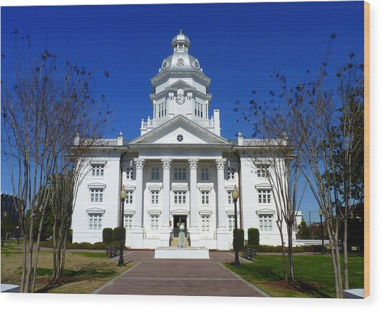 Moultrie Courthouse Wood Print