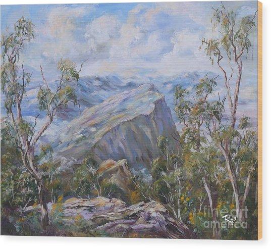 Mount Abrupt Grampians Victoria Wood Print