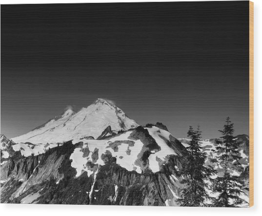 Mount Baker In Washington Wood Print