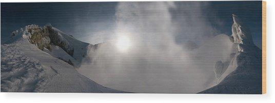 Mount Baker Summit Crater Wood Print by Alasdair Turner