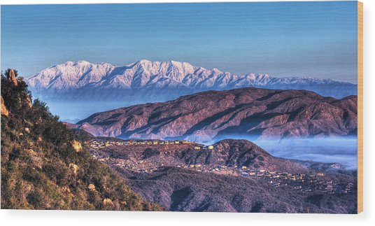 Mount Baldy Wood Print