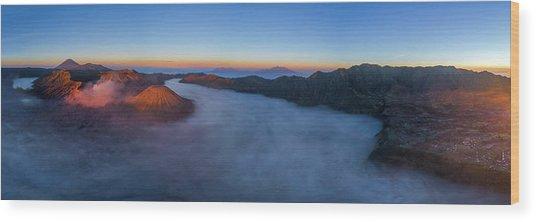 Wood Print featuring the photograph Mount Bromo Scenic View by Pradeep Raja Prints