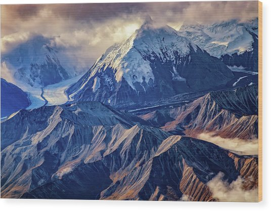 Mount Brooks From Above Wood Print