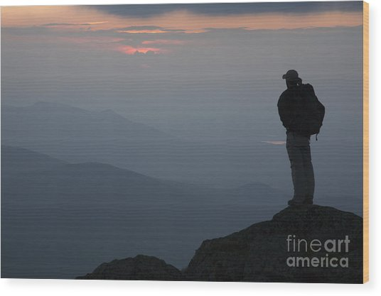 Mount Clay Sunset - White Mountains New Hampshire Usa Wood Print