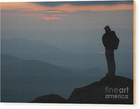 Mount Clay Sunset - White Mountains, New Hampshire Wood Print
